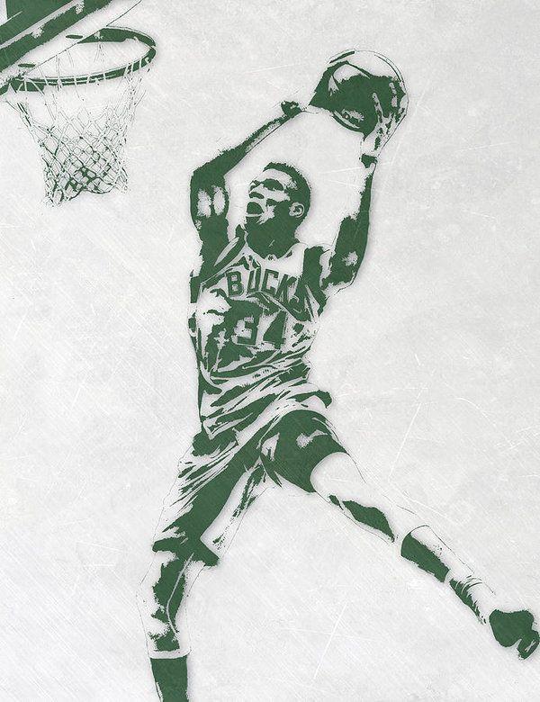 Giannis Antetokounmpo Milwaukee Bucks Pixel Art Art Print by Joe ...