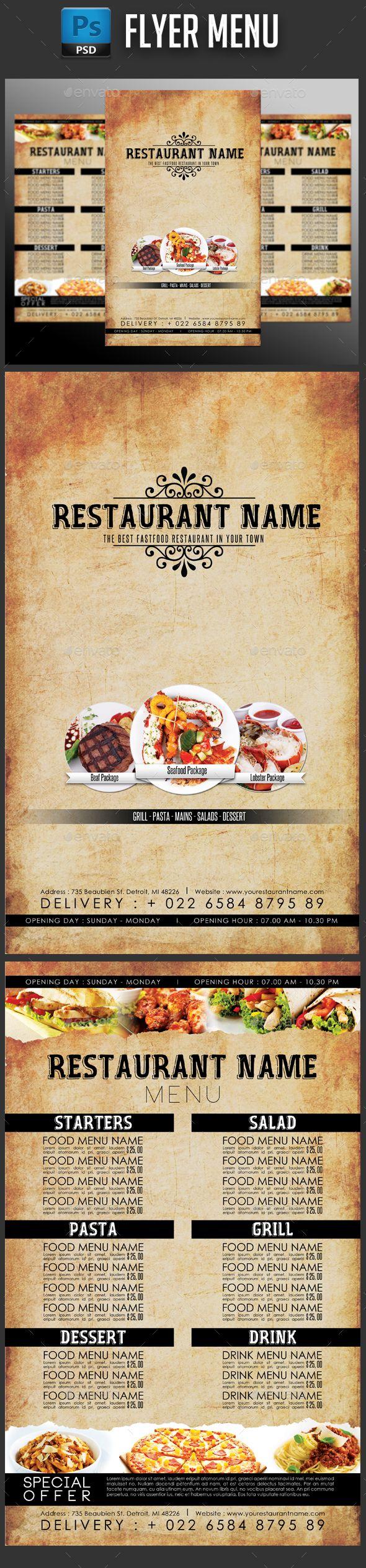 Restaurant Menu Double Side