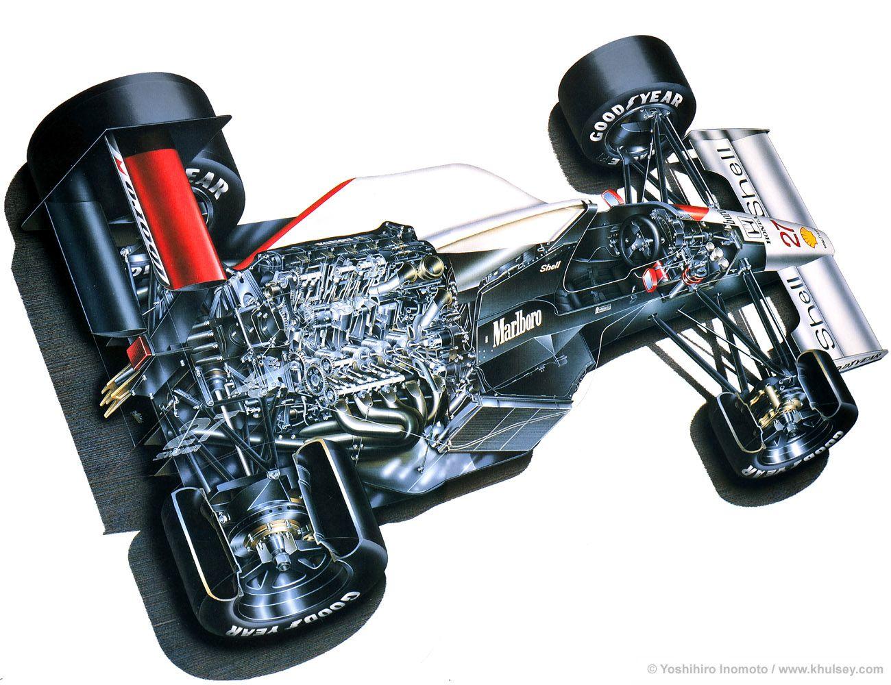 F1 Car Cutaway View Honda v, Mclaren f1, Formula 1 car