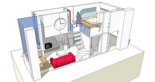 One room design design sketchup interior sketch up for Sketchup room layout