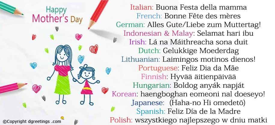 How To Say Mom In Different Languages Happy Mothers Day Language Different Languages