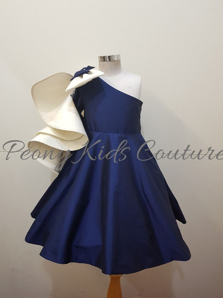2a71ba1b0 Dress With Ruffles-Blue and White. Get in Touch on + 91 9908457897 ...