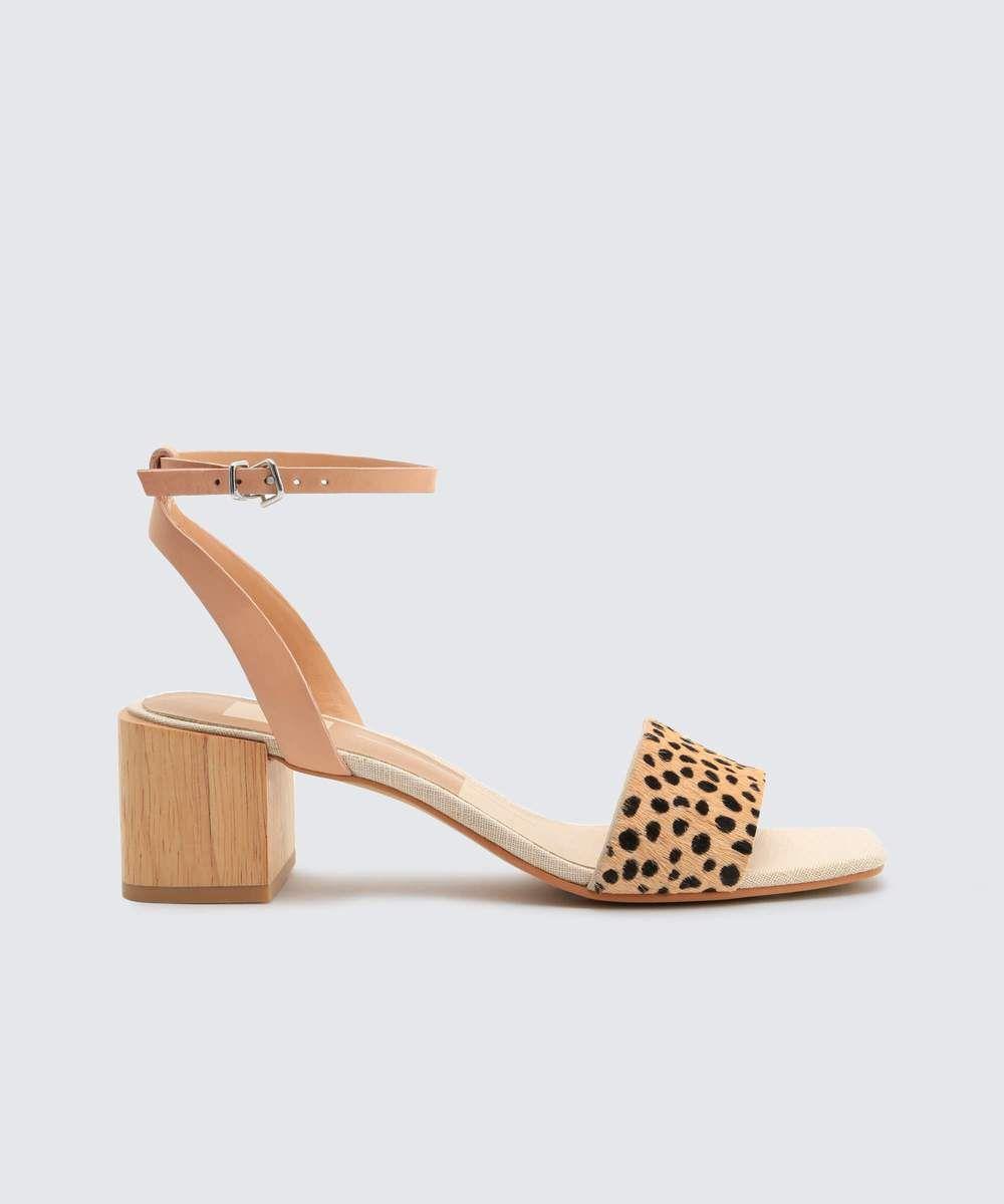 Dolce Vita: Roman Heels Sandal in Grey | Mauve heels