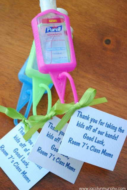 Teacher Appreciation Hand Sanitizer Gift Back To School Gifts