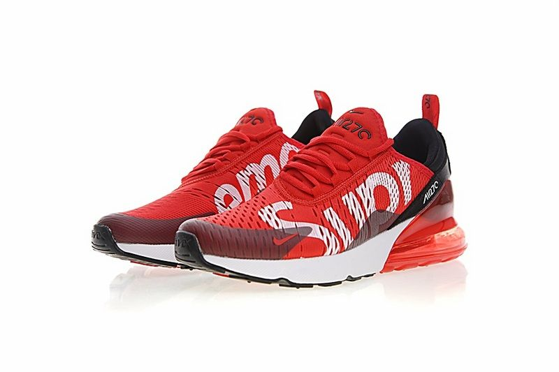 d1e96475c9e Genuine 2018 Supreme x Nike Air Max 270 Latest Styles 2018 Running Shoes  Sup Red White Black AH8050-610