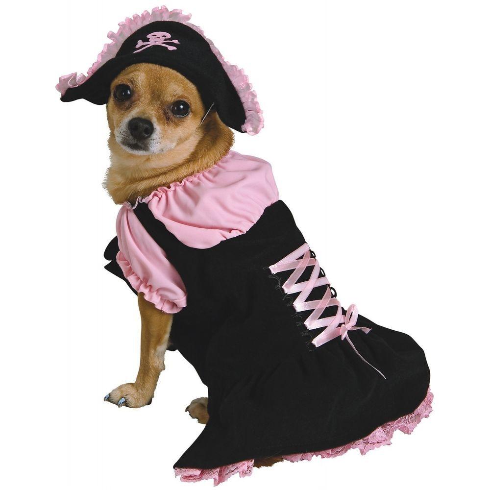 pink pirate dog costume cute pet halloween fancy dress   halloween