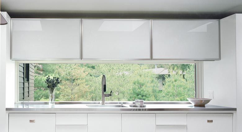 Down To Earth Casement Window Above Kitchen Sink Casement Windows Marvin Windows And Doors Windows And Doors