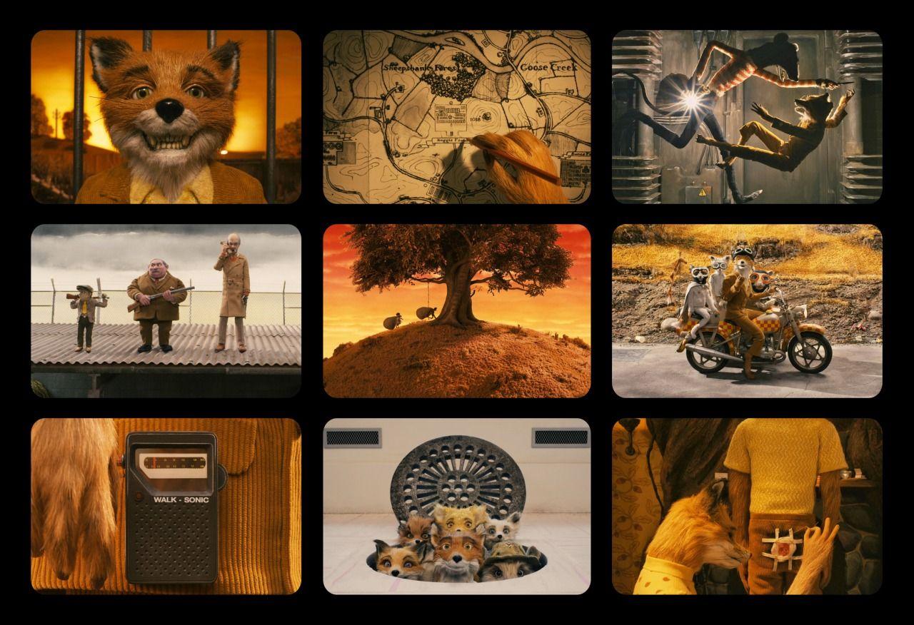 9 Film Frames Fantastic Mr Fox Art 9 Film Painting