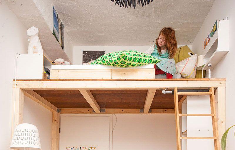 ein hochbett selber bauen diy anleitung inspiration pinterest hochbett bett und. Black Bedroom Furniture Sets. Home Design Ideas
