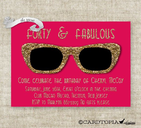 GOLDEN BIRTHDAY PARTY Invitations for Adult by CardtopiaCompany, $14.00