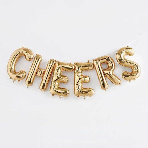 Cheers Letter Balloons 16 Gold Letter Balloons Graduation - celebration letter
