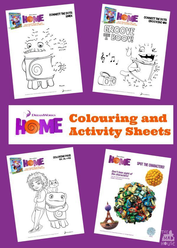 Free Dreamworks Home colouring pages