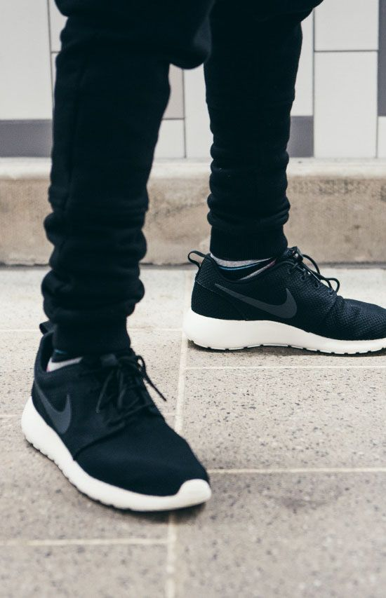 uk availability c147a 13f88 NIKE Roshe Run × Black Trousers  streetwear  mensfashion  sneakers