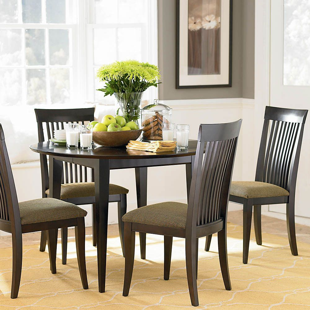 Kitchenround Dark Wooden Dining Table Dark Brown Dining Chairs Fair Simple Dining Room Review