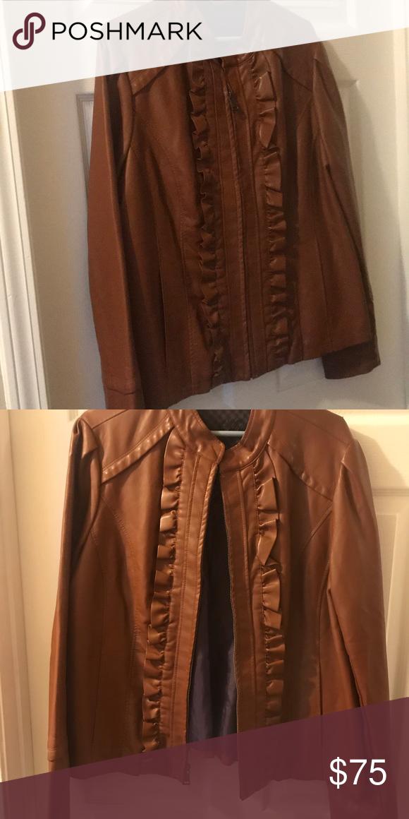 973c2898b3331 Steve Madden leather jacket Light weight soft leather jacket no wear Steve  Madden Jackets   Coats