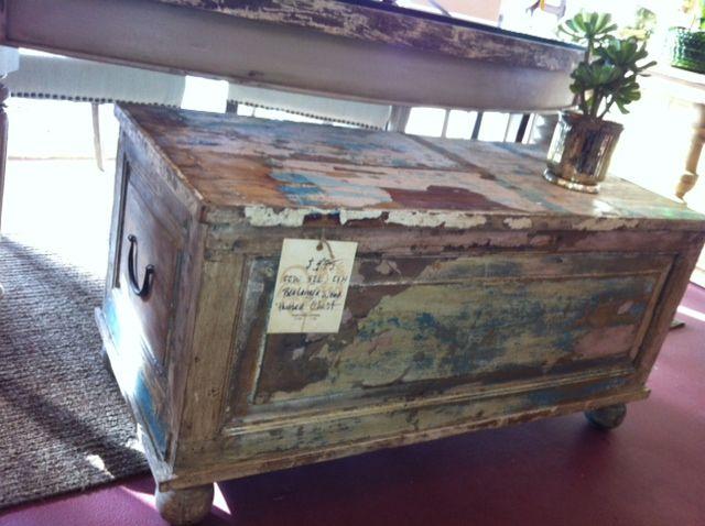 Painted Wood Trunk   Item #233   Cokas Diko | Furniture Store Santa Rosa |
