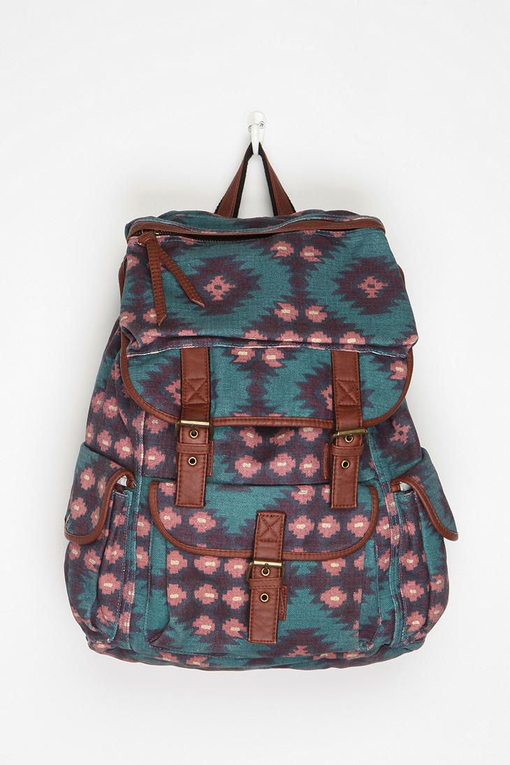 Ecote Patterned Canvas Backpack from Urban Outfitters. Can never get enough of aztec prints.