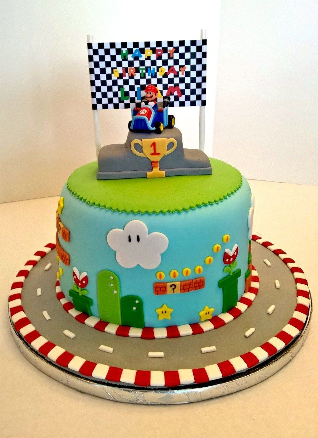 Mario Birthday Cake Super Mario Kart Birthday Cake And Design