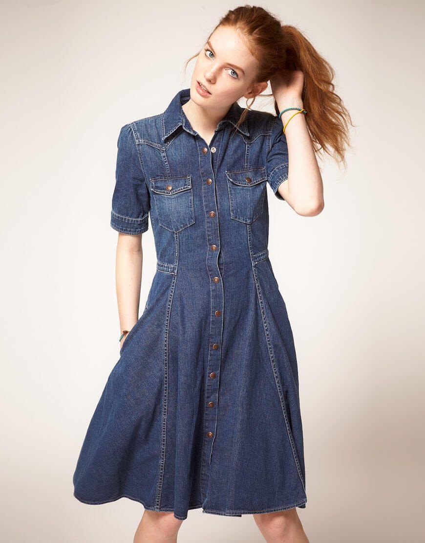 Купить джинсовые платья 2017 фото новинки