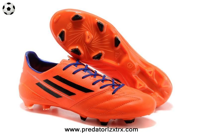 TRX FG Leather Adidas F50 AdiZero (Orange Black Purple