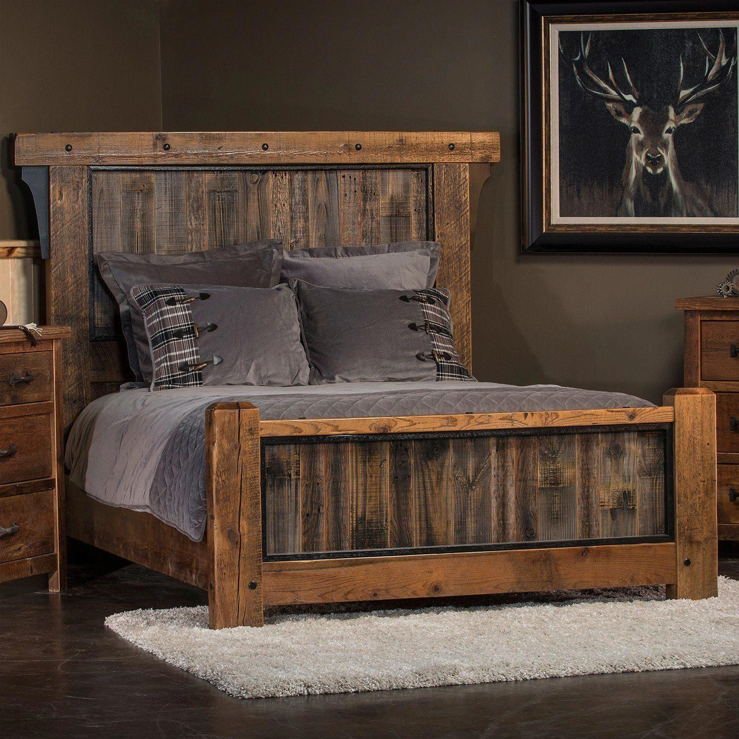 Adventure Mountain Timber Frame Panel Bed Furniture Rustic