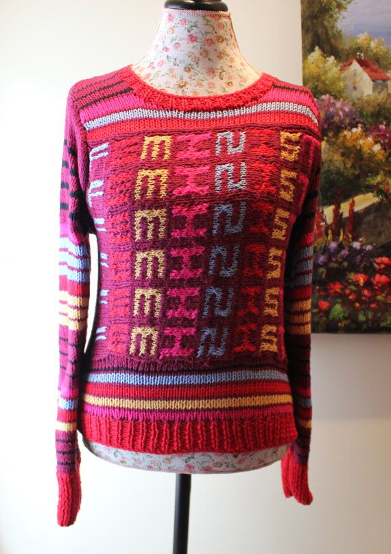 The FEMINIST SWEATER Women's Style Sweater Handmade COTTON knit ...