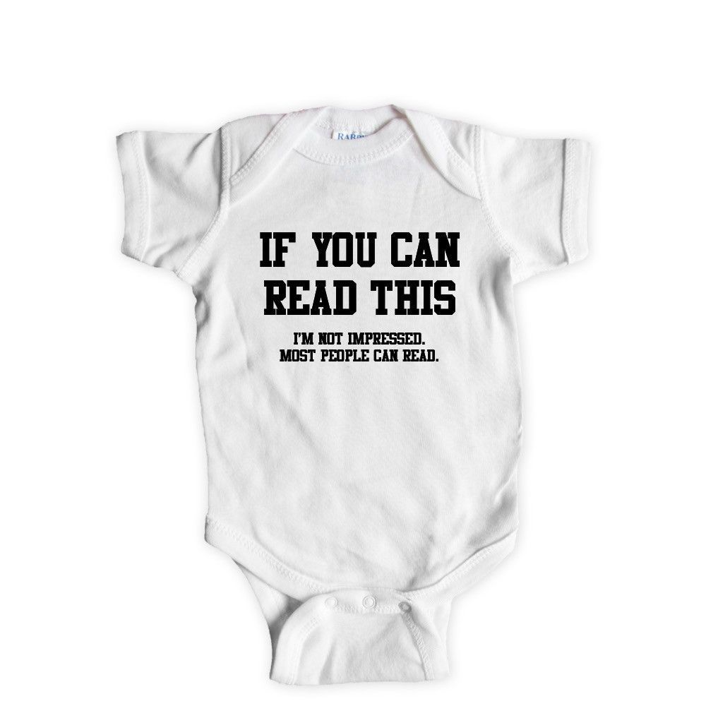 Cute iBaby Babygrow in White with Black Print cute baby shower gift NEW