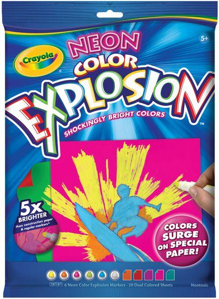 Crayola Color Explosion Black Rainbow New