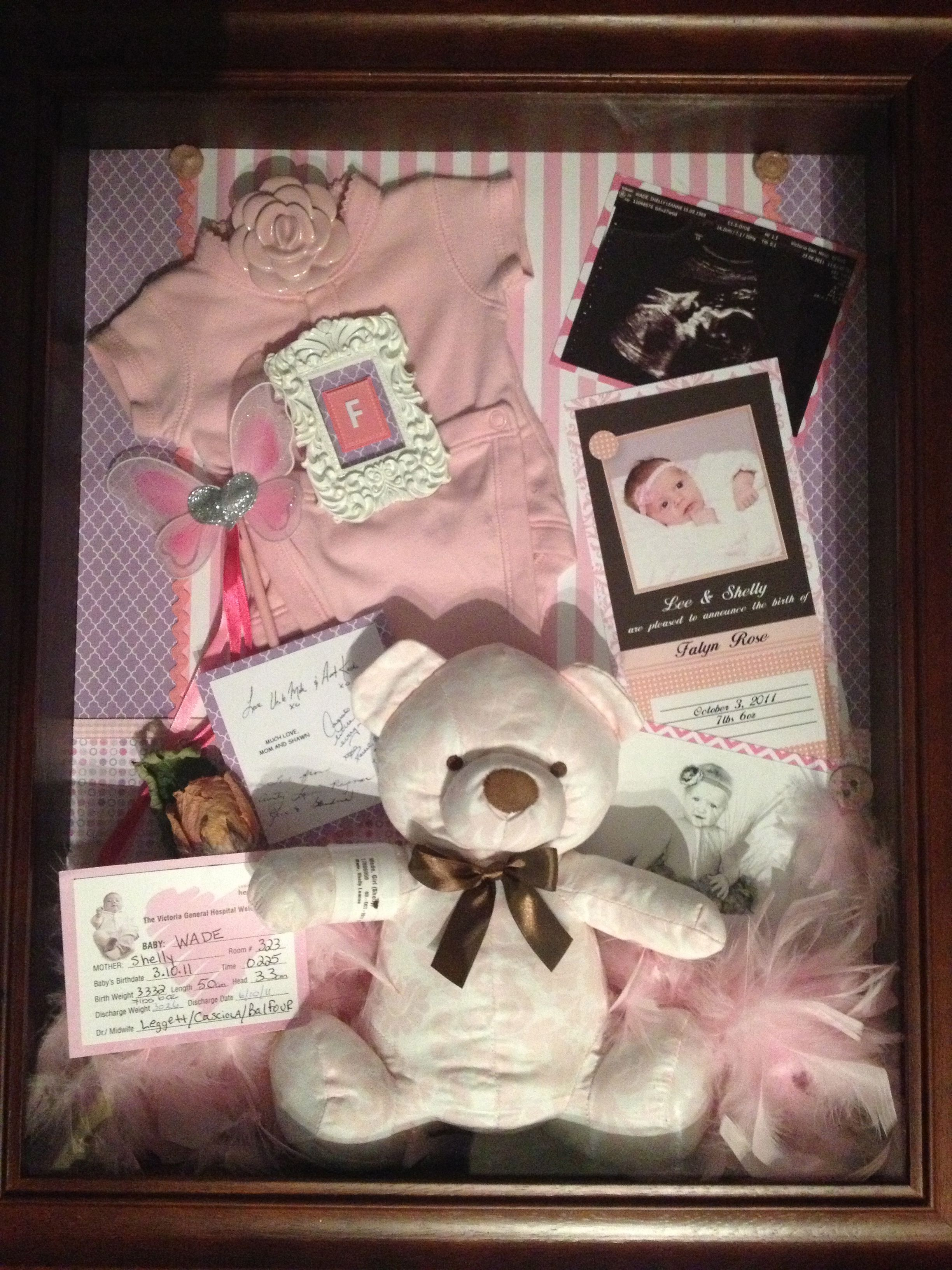 custom order baby keepsake shadow boxes from lovely studio west coast gift cards also available. Black Bedroom Furniture Sets. Home Design Ideas