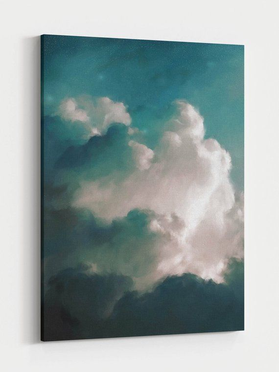 Photo of Extra Large Wall Art, Cloud Painting, Abstract Art, Large Abstract Painting, Cloudscape Art by CORINNE MELANIE 'Aurae III'