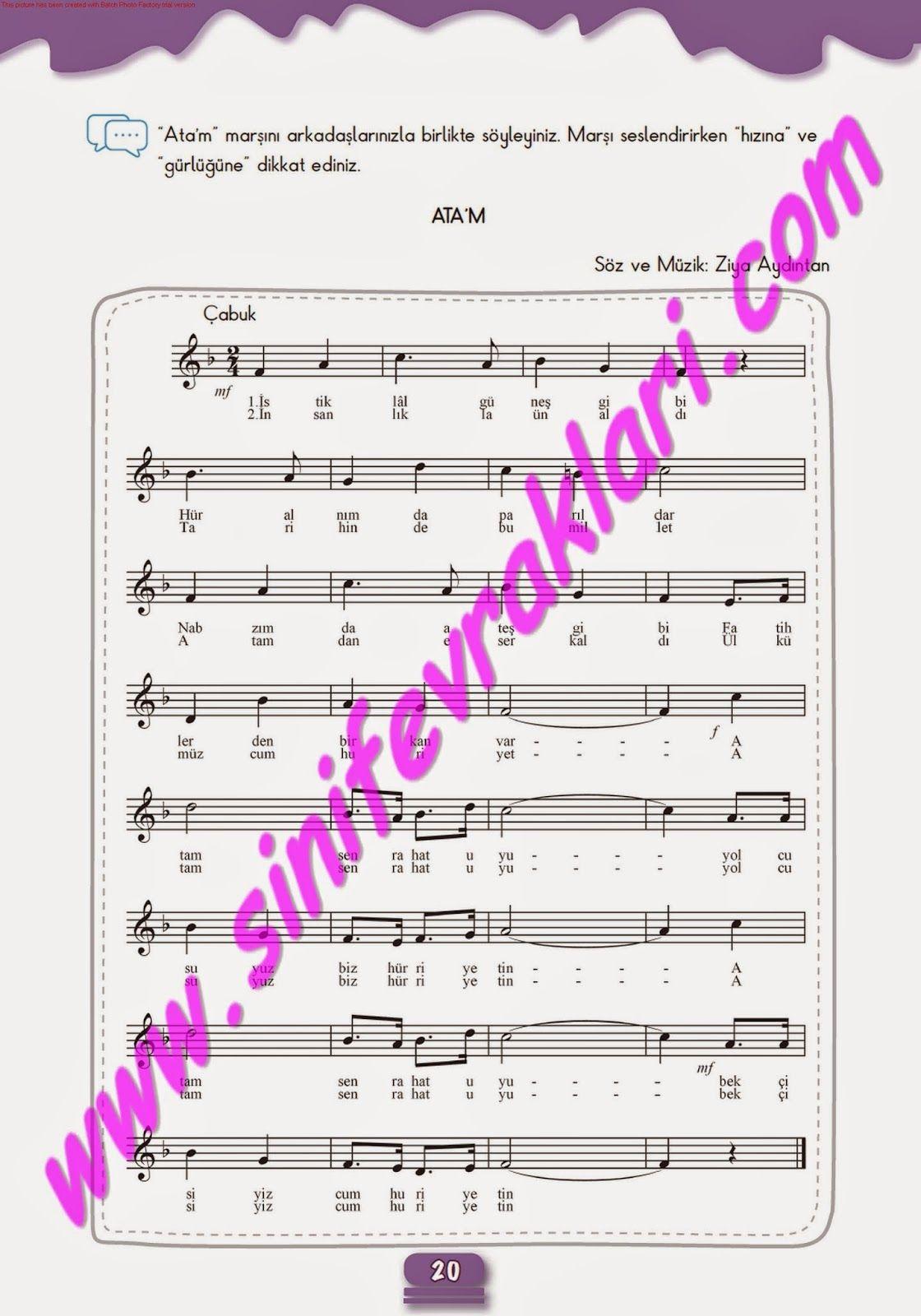 7sınıf Müzik çalışma Kitabı Cevapları Meb Yayınları Sayfa 20 7