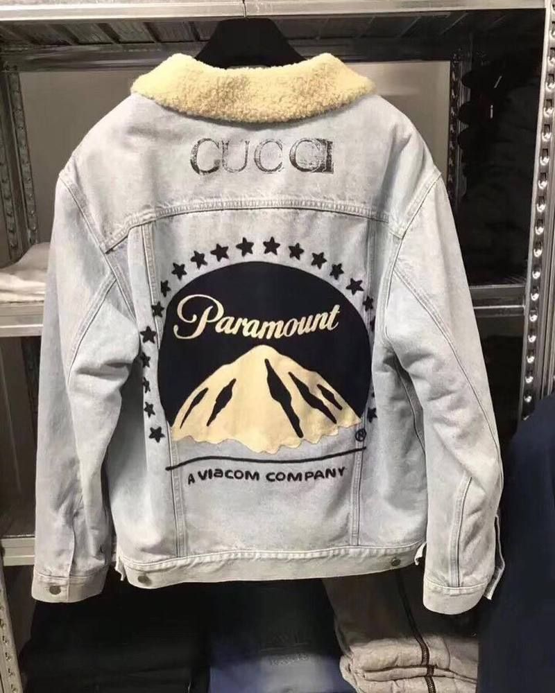 d316137a9f1 Jean Jacket Gucci Paramount Print Denim  fashion  clothing  shoes   accessories  mensclothing