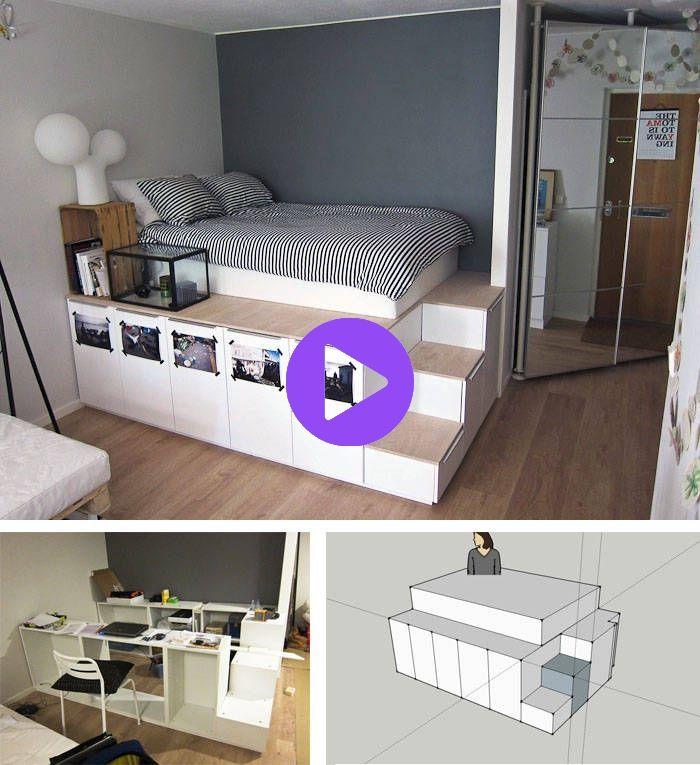 Bett Selber Bauen 12 Einmalige Diy Bett Und Bettrahmen Ideen Bed Frame Design Diy Bed Ikea Bed