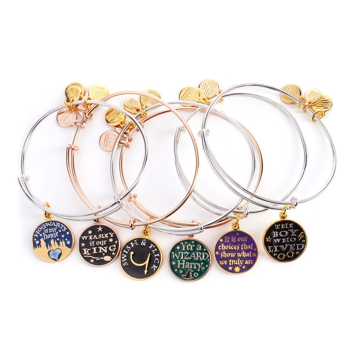 329a4ef73 Any HP stuff from Alex and Ani. For a limited time only, collect this  exclusive HARRY POTTER™ Set of 6 Charm Bangles. Set includes:• Yer a Wizard  Harry ...