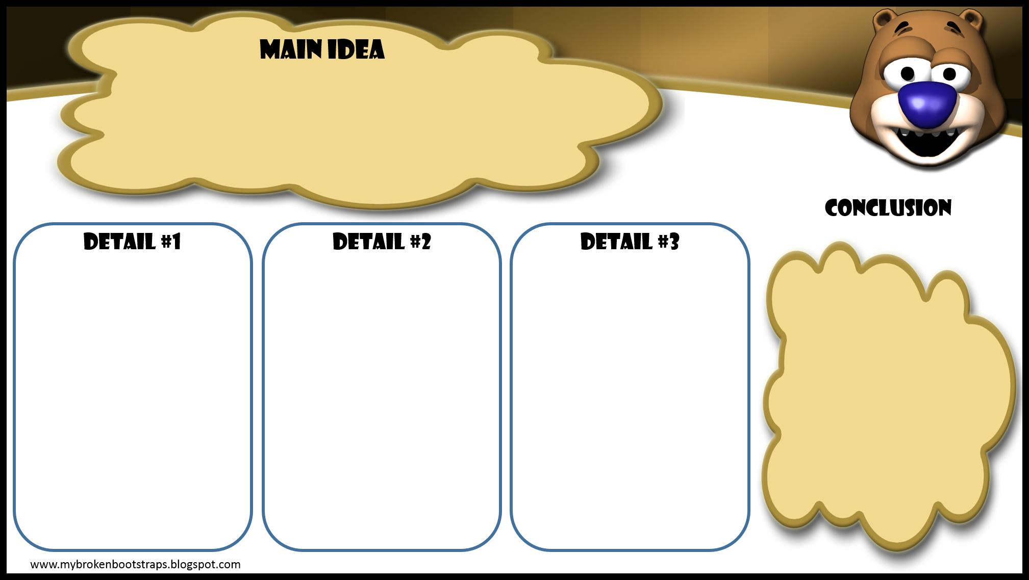 Monday Freebie!  Cute prewriting template for paragraphs with a twist!