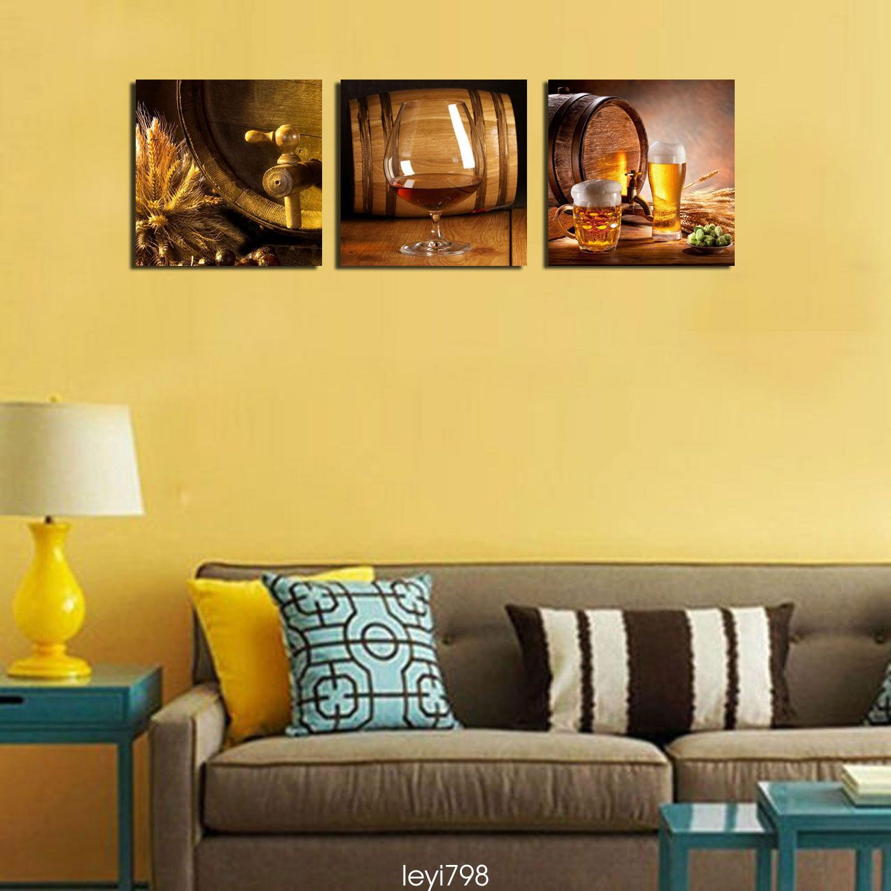 Hd Print On Canvas Painting Home Decoration Wall Art Wine 3Pcs ...
