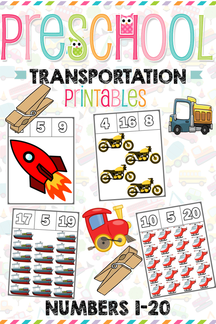 1 Teach Counting Skills With These Transportation Clip Cards Great For Teaching 1 1 Countin Kindergarten Math Activities Learning Games For Kids Clip Cards [ 1104 x 736 Pixel ]
