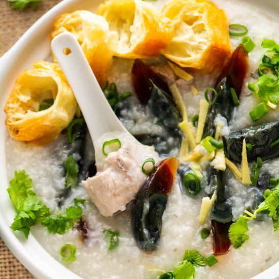 Century Egg and Pork Congee  #food #foodie #foodphotography #yummy #delicious #foodblogger #foodlover #foodgasm #dinner #healthyfood #foodies #lunch #restaurant #tasty #eat #healthy #homemadenbsp #breakfast
