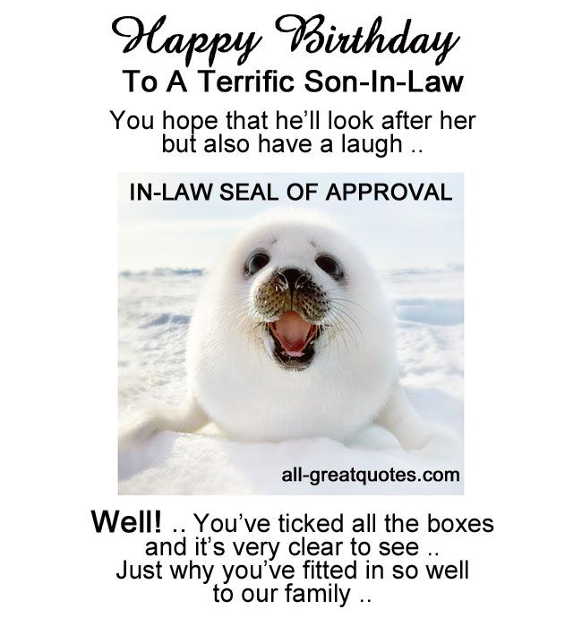 SonInLaw Quotes QuotesGram via Relatably – Happy Birthday Son in Law Cards