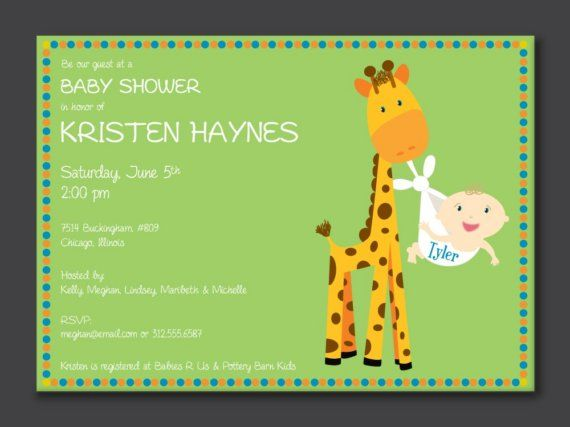 Delivery Giraffe Baby Shower Invitation by PaperPerfectionist, $20.00
