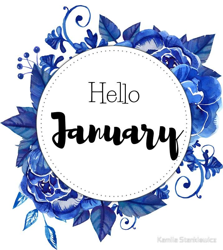 'Hello January - monthly cover for planners, bullet journals, ' Sticker by vasylissa
