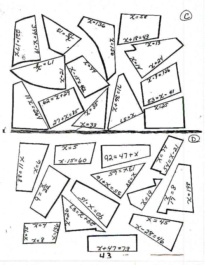 Solving Equations Puzzle Worksheet Math Ed Pinterest Solving Algebra Equations Solving Equations Puzzle Worksheet Rahotgeosilk22\u0027s Soup