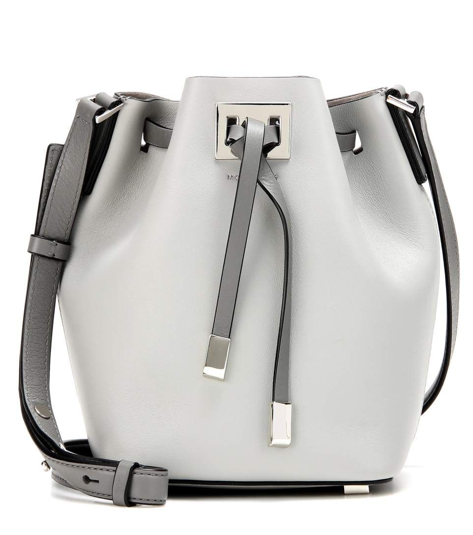 61e7deb37a767 MICHAEL KORS Miranda Small Leather Bucket Bag.  michaelkors  bags  shoulder  bags  lining  bucket  suede