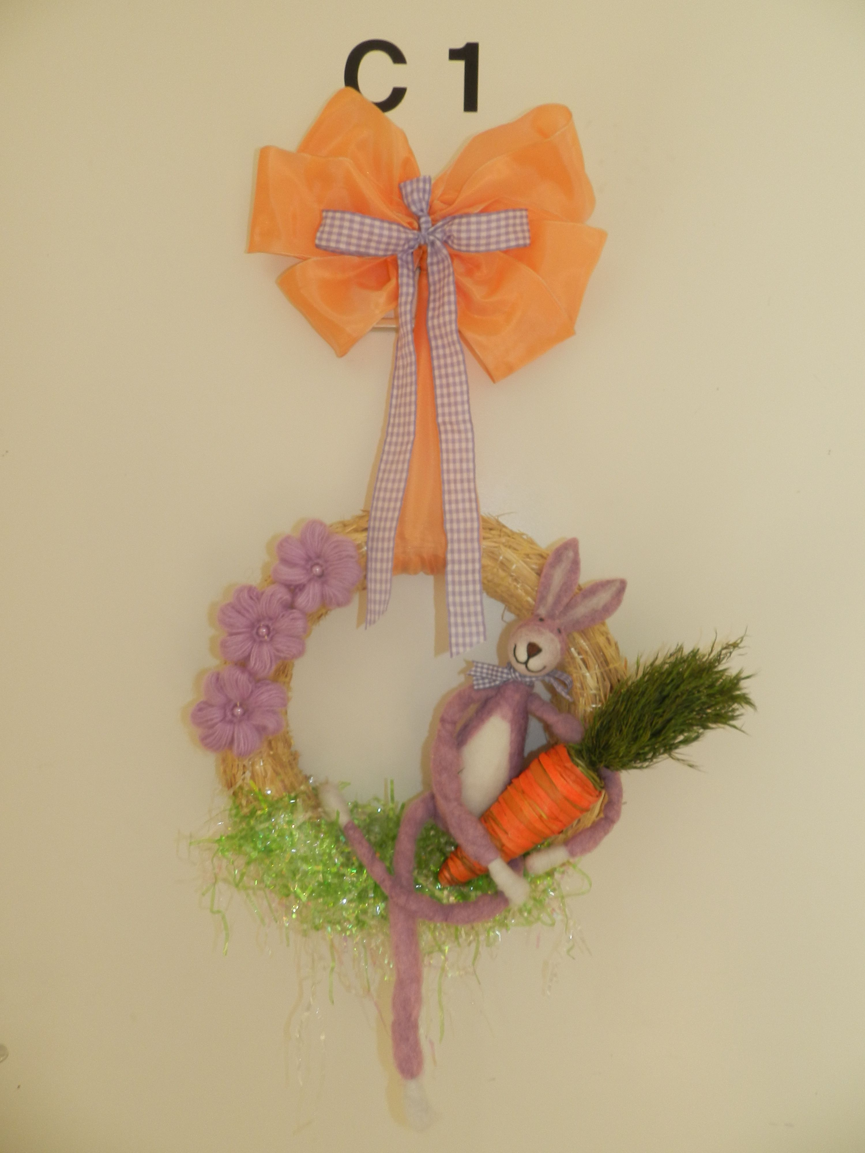 My April (easter) wreath I made! <3 making one every month, it's so much fun!