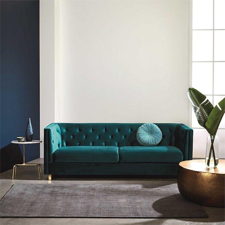 Boyd Sofa 3s Vic Velvet Freedom Furniture Couch Decor Velvet Living Room Velvet Sofa