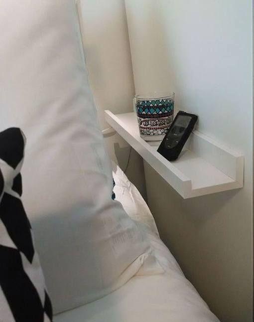 Mesitas de noche con baldas de ikea decorar pinterest - Ikea mesitas de noche y comodas ...
