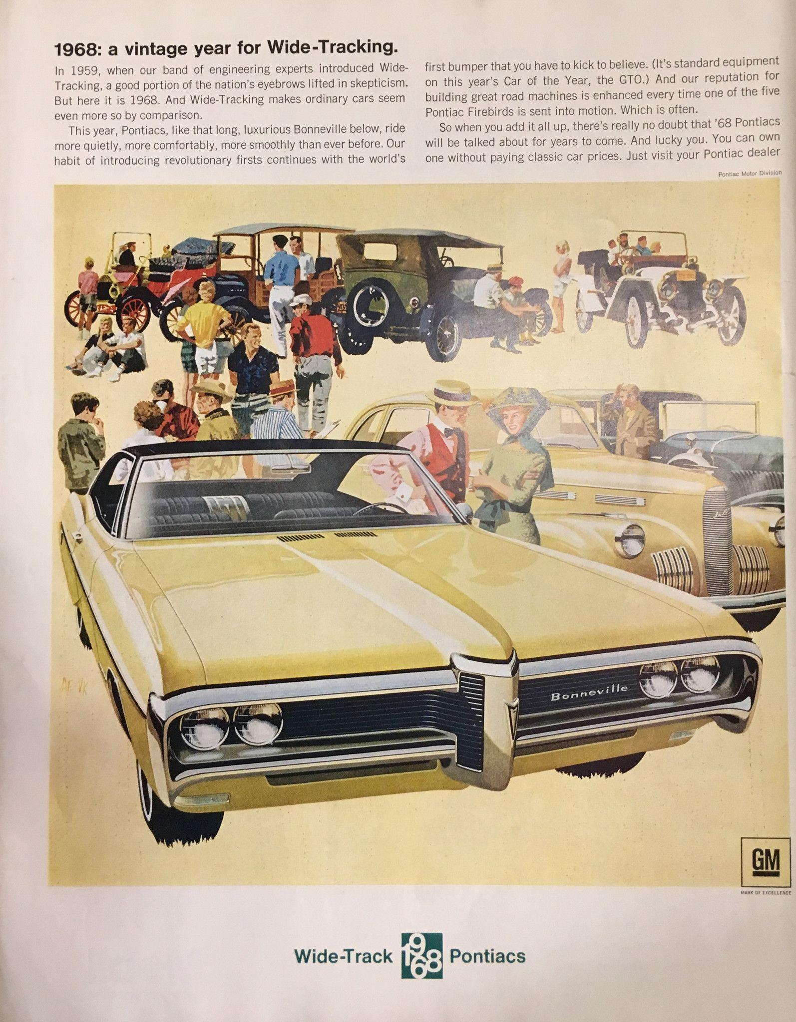 1968 pontiac bonneville vintage magazine ad from saturday evening post