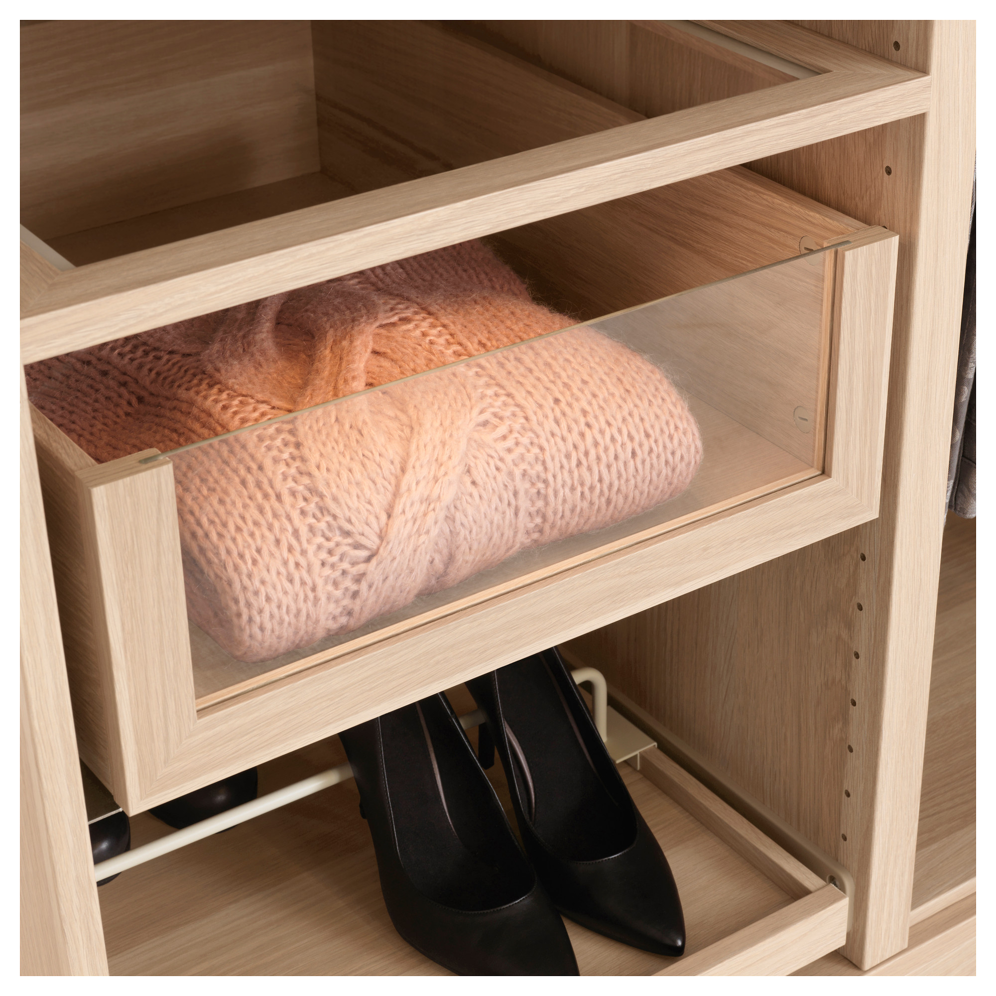 Materials Pax Wardrobe Komplement Drawers And Sliding Hangers Wood Hardware Description