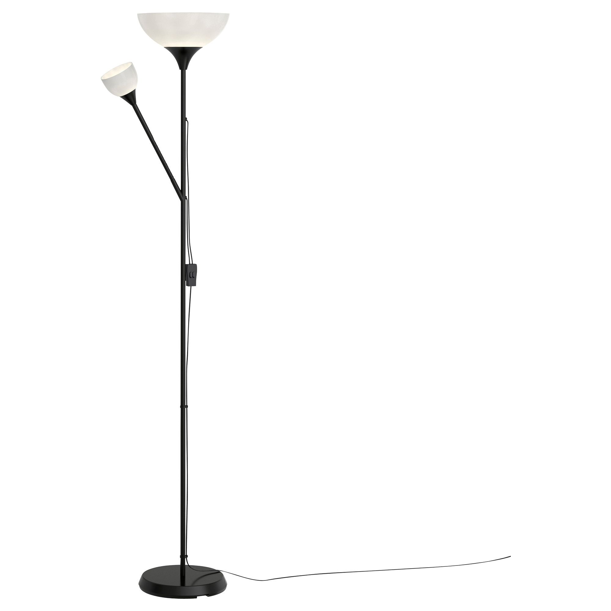 NOT Floor uplight reading lamp black white