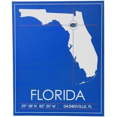 Florida Gators 20 X 25 University Map Canvas Wall Art Map Canvas Canvas Wall Art Wall Art